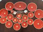 Fitz and Floyd Medallion D'Or Orange Coral 26 Piece China Set // $623.62 VALUE