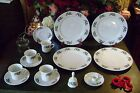 19 PCS. HOLIDAY DINNERWARE SET- -CANDLE HOLDER -CANDY JAR/LID HOLLY LEAVES