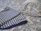 WAVERLY GARDEN TOILE FLORAL GINGHAM CHECK BLUE 4PC FULL/QUEEN COMFORTER SET
