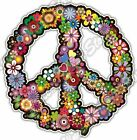 Peace Sign Hippie Abstract Ornament Colorful Car Bumper Vinyl Sticker Decal 46
