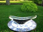 Carl Erickson Free Hand Art Glass Elongated dish bowl