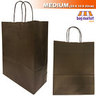 Strong Black Twisted Handle Paper Bags Kraftshopgiftfashionpartycarrier