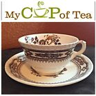 Mason's Patent Ironstone Manchu Green Cup and Saucer Made in England