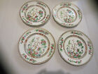 Antique Set Of 4 Ironstone Indian Tree Of Life 9