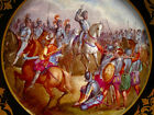 ANTIQUE SEVRES  PLATE,HAND PAINTED WITH MILITARY SUBJECTS,BEAUTIFUL