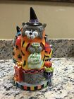 Fitz and Floyd 2002 Kitty Witches Musical Halloween Figurine Centerpiece