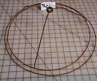 VINTAGE WIRE LAMP SHADE FRAME FORM LAMP PARTS CLOTH RESTORATION ROUND  15x14x5