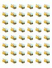 48 BUMBLE BEE ENVELOPE SEALS LABELS STICKERS 12 ROUND