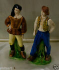 Pair of Vintage Painted Fashionable Men Decor Statues (Made in Italy) 9