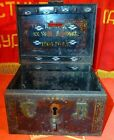 VTG antique Russian Imperial Tax Collectors metal casket box Chest 1906 data