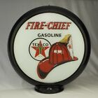 Texaco Fire Chief Gas Pump Globe Sign Glass Lenses Home Filling Station Decor