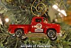 Classic 1956 Ford Pickup Truck Christmas Ornament 1/64 Adorno Texaco Oil F-100