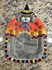 Fitz & Floyd Essentials KITTY WITCHES & CURLY Q's Canape Plate - HALLOWEEN