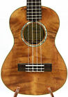 Alulu Solid Curly Mahogany Tenor Ukulele Natural Wood grain hard case HU1134