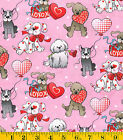 Patty Reed Designs Love Pups Fabric 2 Yards Holiday Inspirations Valentines Day