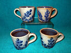 VTG Dorchester MASS. Pottery Stoneware Blueberry 4 Coffee Tea Cup Mug