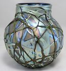Charles Lotton Signed & Dated Iridescent Art Glass Vase