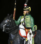 Napoleonic French Hussar circa 1807 Mounted Metal Hand Painted Toy Soldier 54mm