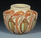 Common Ground Pottery, Fish and Seaweed vase, Eric Olson art pottery
