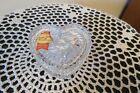 Anna Hutte Bleikristall Heart Glass Tinker Container Lead Crystal