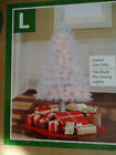 4FT PRE-LIT INDIANA SPRUCE ARTIFICIAL CHRISTMAS WHITE TREE W 150 CLEAR  LIGHT