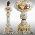 """ tall rare hand painted French porcelain Lamp, late19th to early 20th"