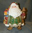 Fitz and Floyd Classics Christmas Court Jolly St Nick Old World Santa Cookie Jar