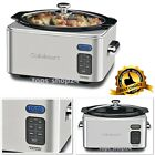 Electric Slow Cooker Stainless Steel Programmable Cooking Pot Kitchen Restaurant