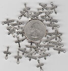 YOU GET 100 METAL SILVER TONE RELIGIOUS CROSS CHARMS  US SELLER C 29
