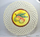Vintage Spanish Ceramic Spain Lattice Weave Small Plate Decorative