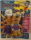 Darkwing Duck By Playmates - Darkwing Duck With Gas Gun Unpunched Card (MOC)