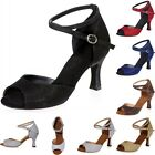 Brand New Women Ballroom Latin Tango Salsa Glitter Dance Shoes 6 Colors Heeled