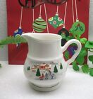 HTF Sango China Christmas Holiday  SILENT NIGHT  16oz Coffee Creamer  Joan Luntz