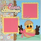 CraftEcafe Premade Scrapbook Page Paper Piecing Easter Boy Girl BLJgraves 27