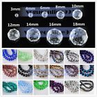Wholesale Rondelle Faceted Crystal Glass Spacer Loose Beads Grafts Making 3 10mm