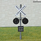 2 x HO Scale Railroad Crossing Signals LED flashing + Circuit board flashers