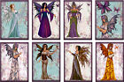 8 FAIRIES WOMEN FLORAL BUTTERFLIES HANG GIFT TAGS FOR SCRAPBOOK PAGES 14