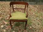 Gorgeous Wood and Caned Chair with Cushion. Mid Century. From Italy