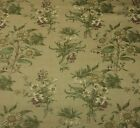 WAVERLY SONOMA SUNFLOWER BEIGE #D4010 FLORAL 100% LINEN FABRIC BY YARD 54