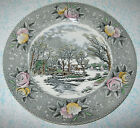 Adams China Currier Ives Amercian Ways Dinner Plate Country Winter Grist Mill