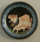 Vintage French Cow Plate Wall Hanging Signed Excellent Condition
