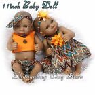 10 Preemie Bebes Reborn African American Twin Doll Silicone Lifelike Baby Dolls