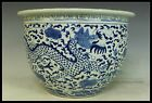 Chinese Rare Fine Beautiful Blue and white Porcelain Dragon Vat