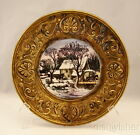 Peerage, Wheeling  WINTER SCENE HOUSE WITH COWS Collector Wall Hanging Plate