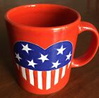 Red Waechtersbach Heart American Flag Blue White Coffee Mug Cup Germany