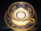 Minton for Tiffany Raised Gold and Cobalt Blue Cream Soup Bowl, No Saucer