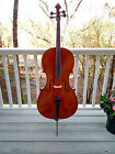 Full-sized Professional Goronok Cello with hard case and silverclad bow