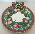 Fitz & Floyd Classics Christmas Wreath Red Bowl Canape Plate Wall Decor