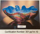 CHIHULY Cerlean Macchia -   NEW REDUCTION Signed and Certified, released in 2010