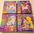 Lisa Frank Lot of 4 Puzzles - Rainbow Skye Markie Angel Kitty Dogs Vintage Rare